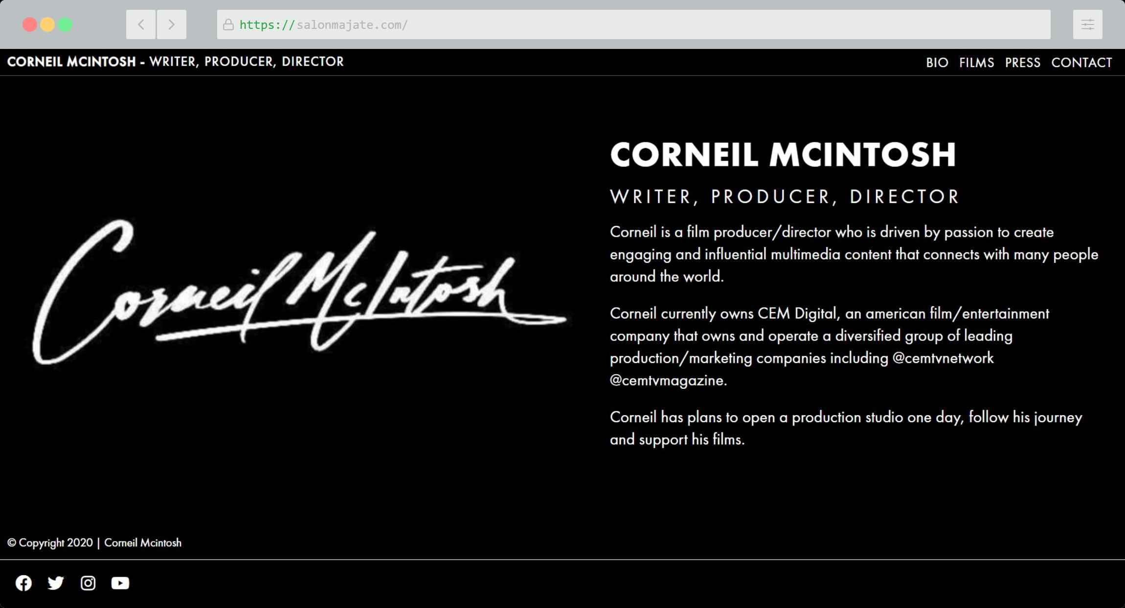 Corneil Mcintosh Website