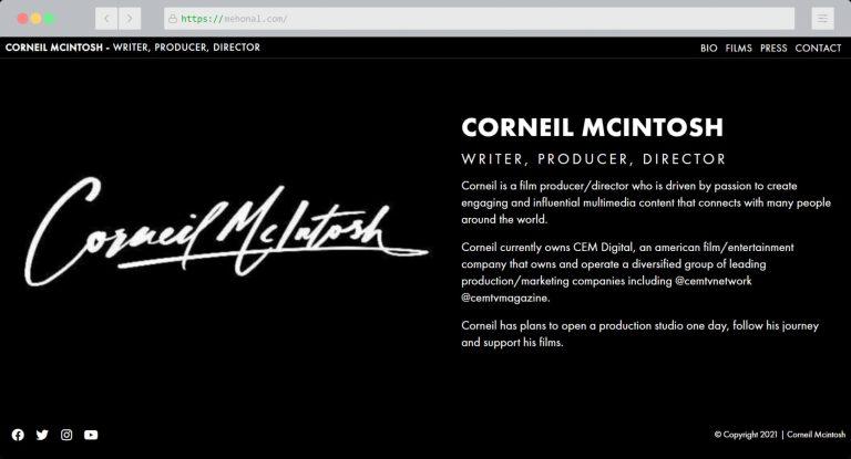 Website Portfolio Corneil Mcintosh