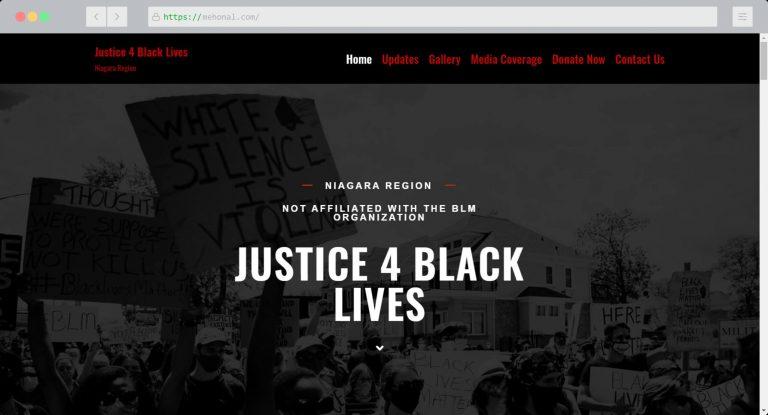 Website Portfolio Justice 4 Black Lives