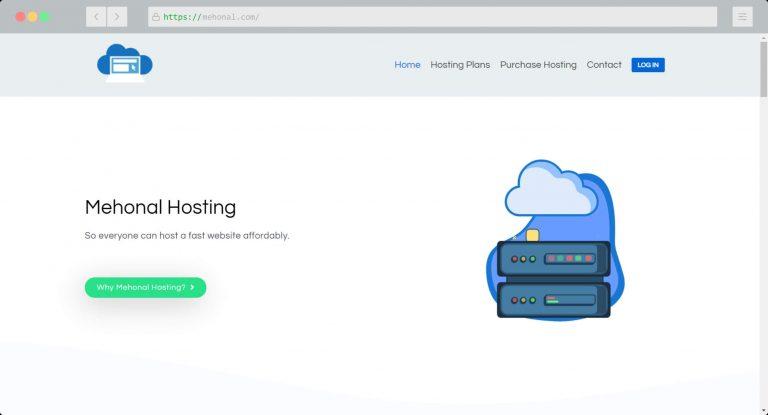 Website Portfolio Mehonal Hosting