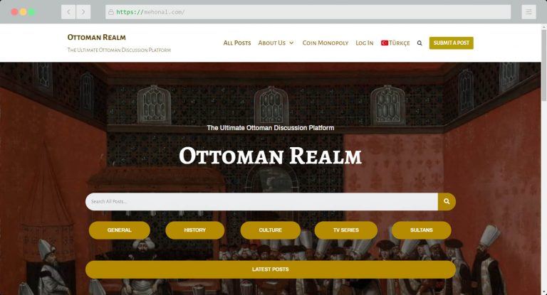 Website Portfolio Ottoman Realm