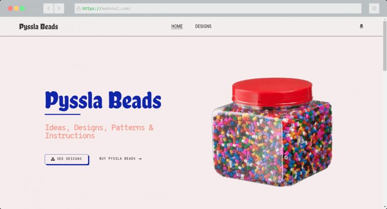 Website Portfolio Pyssla Beads
