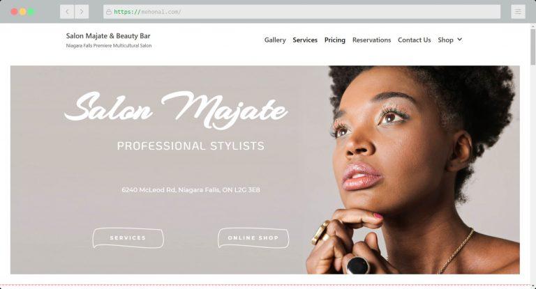 Website Portfolio Salon Majate