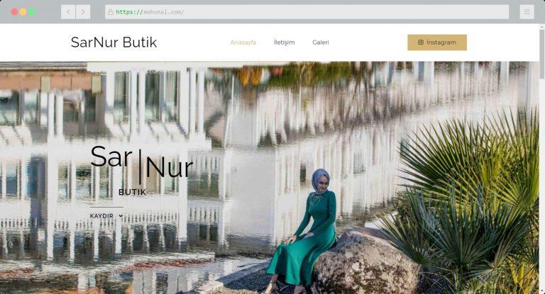 Website Portfolio Sar Nur Butik