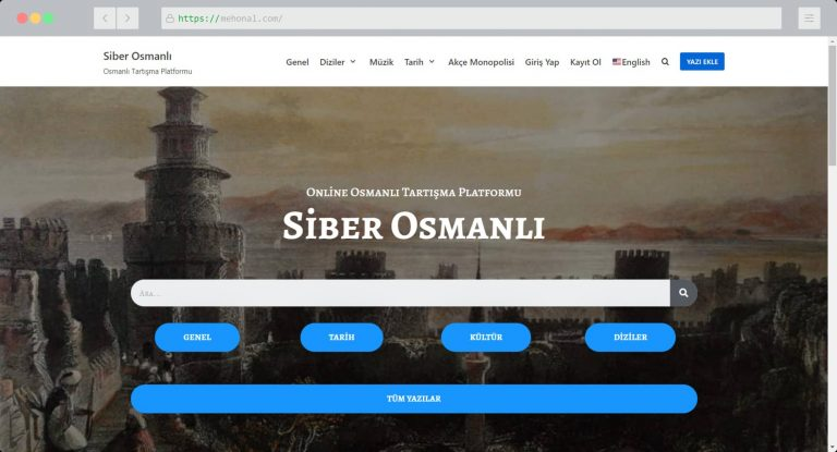 Website Portfolio Siber Osmanli