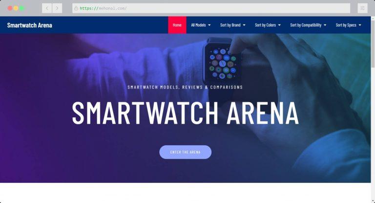 Website Portfolio Smartwatch Arena