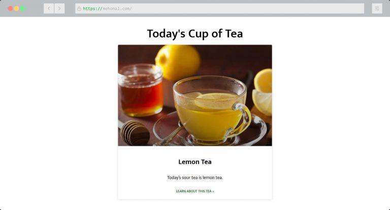 Website Portfolio Todays Cup of Tea