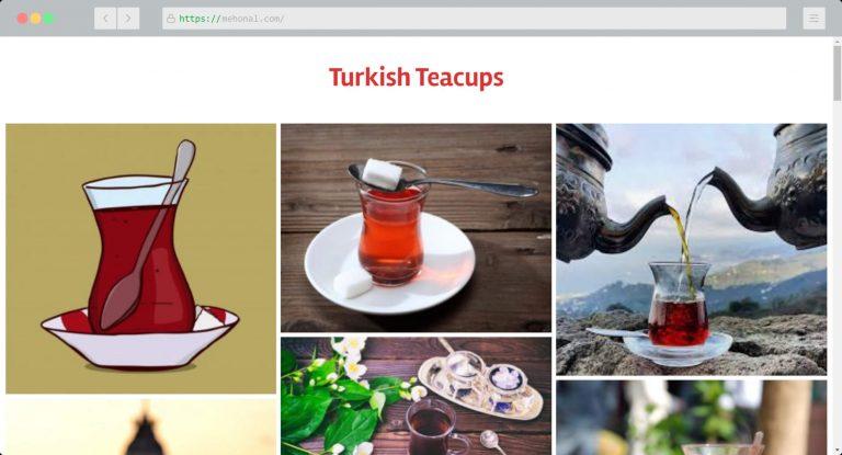 Website Portfolio Turkish Teacups